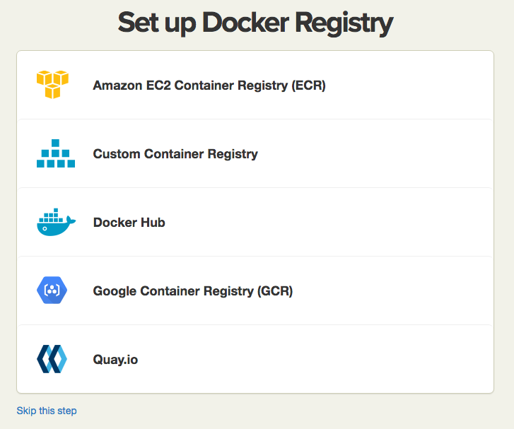 Container Registry Hosts list