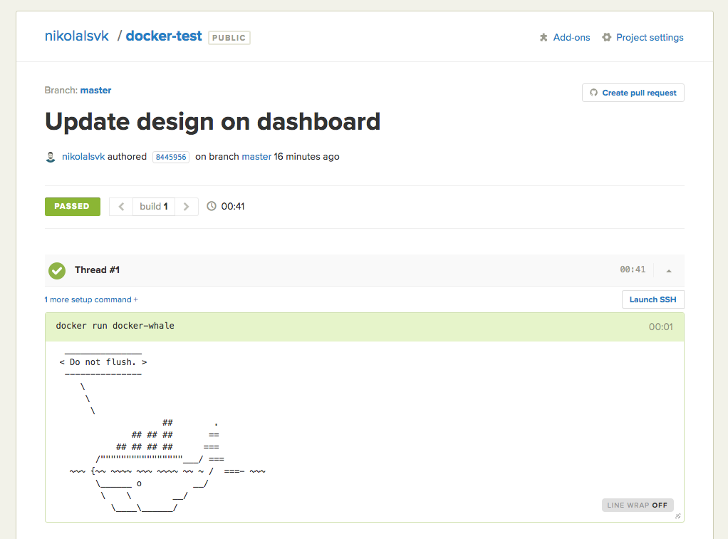 Setting up continuous integration for a Docker project - Semaphore